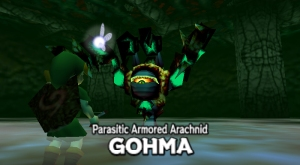 Red_Eyed_Gohma ocarina of time deku tree dungeon boss fight