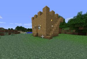 Mini forts/Wilderness safe houses.  Several exist dotted throughout the continent that we spawned on.