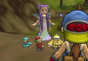 Harvest sprites and the Harvest Goddess implores you to save the village.