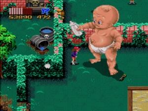 Zombies-Ate-My-Neighbors giant baby