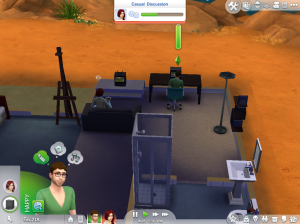 Me and  Friend living in the same house being creative derps and surviving the real life simulation of Sims 4.