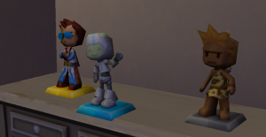 These findables (collectibles) can be found and these ones relate to characters from the My Sims series of Games.