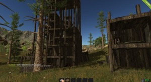 "A player made ""town"" in Rust"