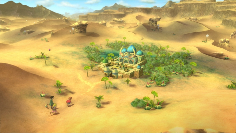 World Map is reminiscent of old RPG's where characters are same size of event locations.